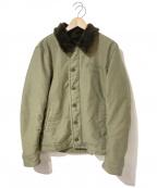 WACKO MARIA()の古着「N-1デッキジャケット」|カーキ×ブラウン