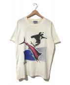 ()の古着「[古着]80'sHOSOIプリントTシャツ」|ベージュ