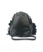 N°21(ヌメロヴェントゥーノ)の古着「巾着レザーショルダーバッグ」|ブラック