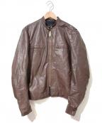 BROOKS(ブルックス)の古着「[古着]ヴィンテージレザージャケット」|ブラウン