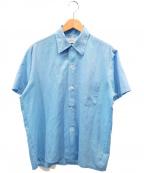 TOWN CRAFT(タウンクラフト)の古着「[古着]ヴィンテージ刺繍シャツ」 ネイビー