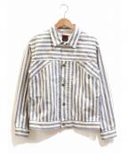 BRU NA BOINNE(ブルーナボイン)の古着「ツイストストライプジャンパー」|ブルー