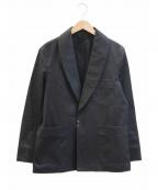 Phlannel(フランネル)の古着「フィンクスキャバルリーツイルスモーキングジャケット」 ブラック