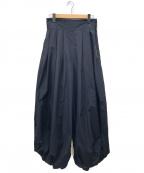 TOGA PULLA(トーガプルラ)の古着「ナイロンタフタワイドパンツ」 ブラック