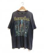 バンドTシャツ(バンドTシャツ)の古着「[古着] HAMMER FALL バンドTシャツ」 ブラック