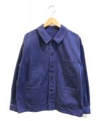 ()の古着「別注カバーオール / フレンチワークジャケット」|ネイビー