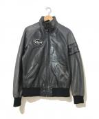 Schott(ショット)の古着「ジップアップレザージャケット」 ブラック