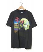 ()の古着「[古着]emerson lake&palmerバンドTシャツ」|ブラック