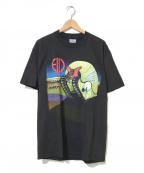 バンドTシャツ(バンドTシャツ)の古着「[古着]emerson lake&palmerバンドTシャツ」 ブラック