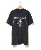 バンドTシャツ(バンドTシャツ)の古着「[古着]METALLICA90'sバンドTシャツ」 ブラック