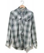 ()の古着「[古着]ヴィンテージオンブレチェックウエスタンシャツ」|グレー