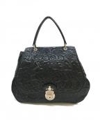 Vivienne Westwood(ヴィヴィアンウエストウッド)の古着「ステッチロゴハンドバッグ」|ブラック