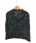 YOHJI YAMAMOTO(ヨウジヤマモト)の古着「チュールコンビコットンジャケット」|ブラック