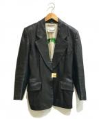 MOSCHINO CHEAP&CHIC()の古着「[古着]レザーテーラードジャケット」 ブラック