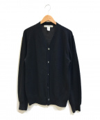 COMME des GARCONS SHIRT(コムデギャルソンシャツ)の古着「Vネックウールカーディガン」|ブラック