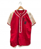 VINTAGE(ヴィンテージ)の古着「[古着]ヴィンテージベースボールシャツ」|レッド