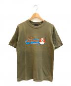 バンドTシャツ(バンドTシャツ)の古着「[古着]deftones 90'sバンドTシャツ」 オリーブ