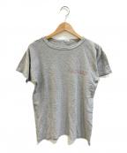 Champion(チャンピオン)の古着「[古着]染み込みプリントTシャツ」|グレー