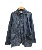 POST O'ALLS(ポストオーバーオールズ)の古着「ライトオンスダンガリーカバーオール」|ネイビー