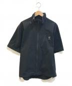 South2 West8(サウスツーウエストエイト)の古着「ジップアップボルダーシャツ」|ブラック