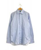 ()の古着「ストライプドレスシャツ」 ブルー