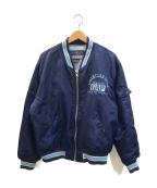 GAP(ギャップ)の古着「[古着]90'sナイロンスタジャン」|ネイビー