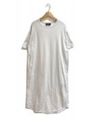 ()の古着「カットソーロングワンピース」 ホワイト