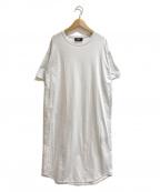 THE RERACS(ザ リラクス)の古着「カットソーロングワンピース」|ホワイト