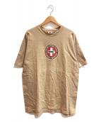 ()の古着「[古着]90'sプリントTシャツ」 ベージュ