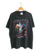 ()の古着「[古着]ジミーペイジ&ロバートプラント バンドTシャツ」 ブラック