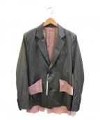 sulvam(サルバム)の古着「カットオフショートジャケット」|グレー