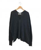 sulvam(サルバム)の古着「slash knit / スラッシュニット」|ブラック