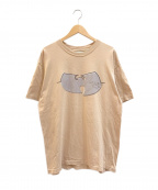 ラップTシャツ(ラップTシャツ)の古着「[古着]WU WEAR 90'sHIP-HOP Tシャツ」|ベージュ