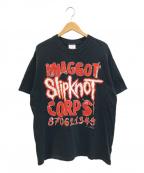 バンドTシャツ(バンドTシャツ)の古着「[古着]SLIPKNOT バンドTシャツ」 ブラック