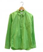 COMME des GARCONS SHIRT BOY(コムデギャルソンシャツ ボーイ)の古着「バックロゴプリントカラーシャツ」 グリーン