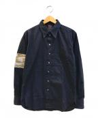 Jean Paul GAULTIER(ジャンポールゴルチエ)の古着「[OLD]スリーブプリントシャツ」|ネイビー