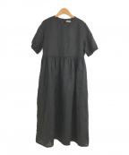 fog linen work(フォグリネンワーク)の古着「リトアニアリネンワンピース」 ブラック