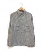 TOWN CRAFT(タウンクラフト)の古着「[古着]ヴィンテージレ-ヨンチェックシャツ」 ホワイト×ブラック