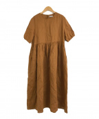 fog linen work(フォグリネンワーク)の古着「リトアニアリネンワンピース」 ブラウン