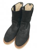 URSUS BAPE(アーサスベイプ)の古着「スウェードペコスブーツ」 ブラック