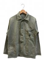 VINTAGE MILITARY(ヴィンテージ ミリタリー)の古着「[古着]P-1941 USMC ミリタリーHBTジャケット」|カーキ
