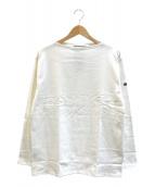()の古着「プレーンバスクシャツ」 ホワイト