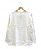 SAINT JAMES(セントジェームス)の古着「プレーンバスクシャツ」|ホワイト