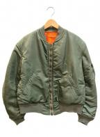 VINTAGE MILITARY(ヴィンテージ ミリタリー)の古着「60's MA-1ジャケット」|カーキ