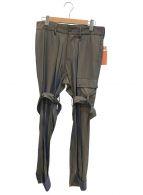 ()の古着「シャンブレーボンテージパンツ」 オリーブ