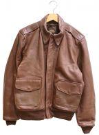 VANSON()の古着「A-2レザーフライトジャケット」 ブラウン