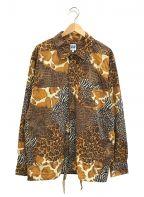 AiE()の古着「ペインターシャツ アニマルパッチワーク」 ブラウン