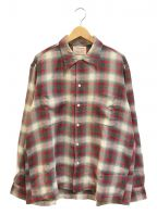 Lanerossi()の古着「[古着]ヴィンテージオンブレチェックシャツ」 レッド