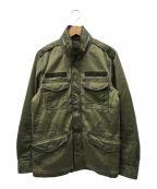 DIESEL()の古着「ダーティコーティング加工ミリタリージャケット」|オリーブ