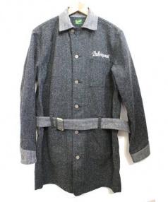 Delinquent Bros(デリンクエントブロス)の古着「2TONE SHOP COAT」 グレー